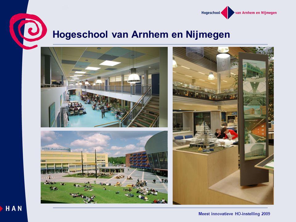 Meest innovatieve HO-instelling 2009 Hogeschool van Arnhem en Nijmegen