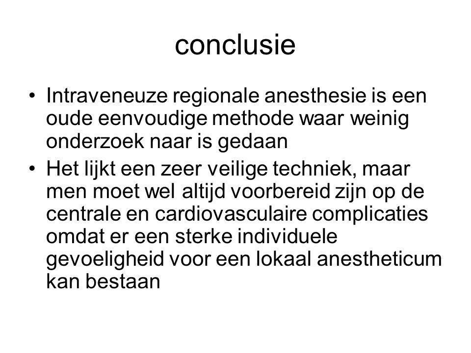 Protocol Biers block, zorg op de verkoever (tjongerschans) Doel: bewaken van een patiënt die verdoofd is met een Biers-block Indicatie: patiënten die een Biers-block hebben gehad Verantwoordelijkheid: Bewaken van een patiënt door anesthesie-assistent of verkoeververpleegkundige Werkwijze: - patiënt stapt vaak zelf over in bed - éénmalig controle ECG, tensie, saturatie - familie inlichten - eventueel pijnbestrijding - gevoel checken - patiënt mag na 15 minuten naar de afdeling