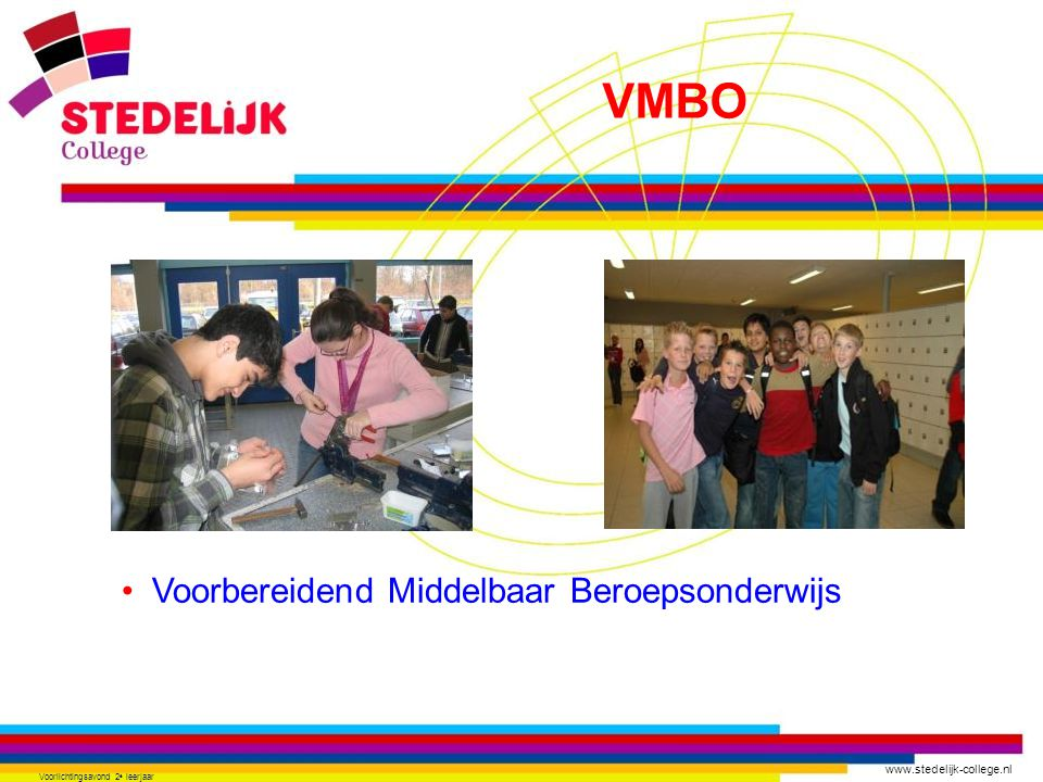www.stedelijk-college.nl Voorlichtingsavond 2 e leerjaar Uniek in Zoetermeer Intersectoraal THEATER Theater & evenementenorganisatie