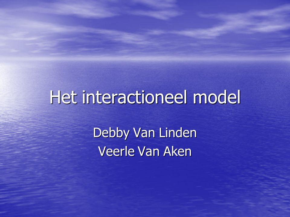 Het interactioneel model Debby Van Linden Veerle Van Aken
