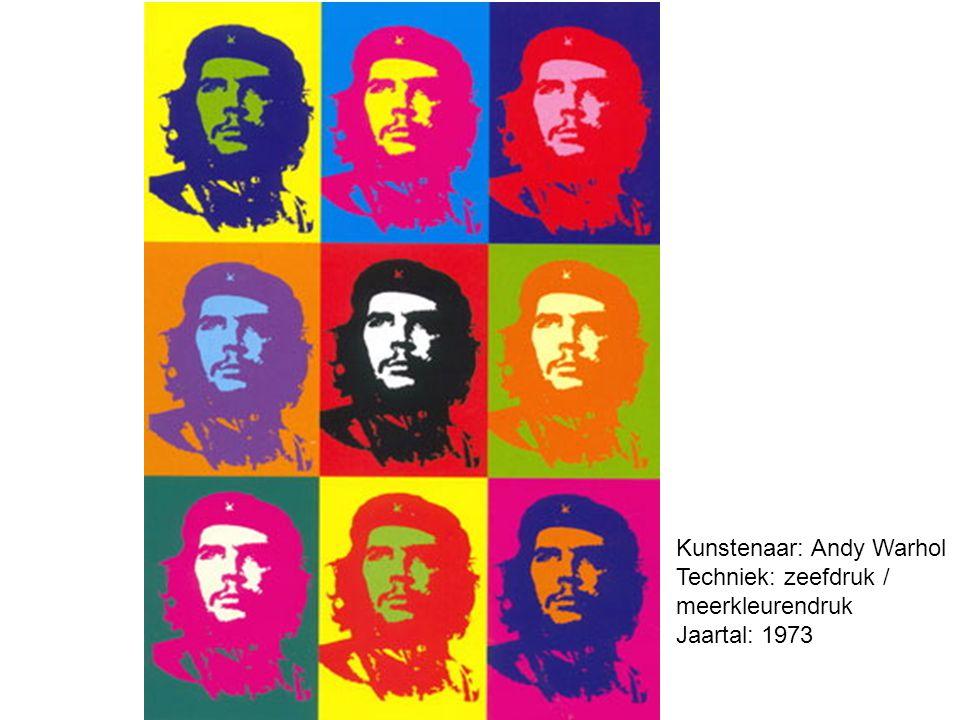 Kunstenaar: Andy Warhol Techniek: zeefdruk / meerkleurendruk Jaartal: 1973