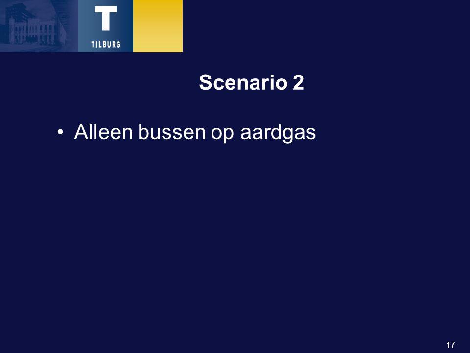 17 Scenario 2 Alleen bussen op aardgas