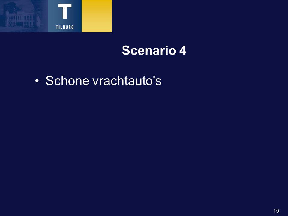 19 Scenario 4 Schone vrachtauto s