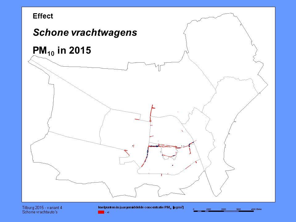Effect Schone vrachtwagens PM 10 in 2015