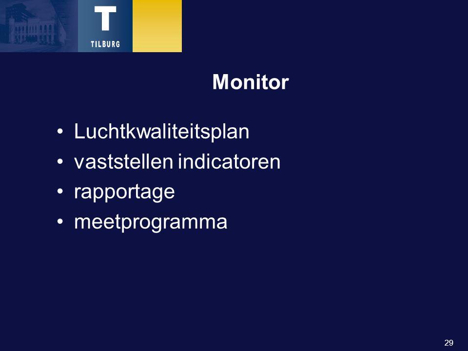 29 Monitor Luchtkwaliteitsplan vaststellen indicatoren rapportage meetprogramma