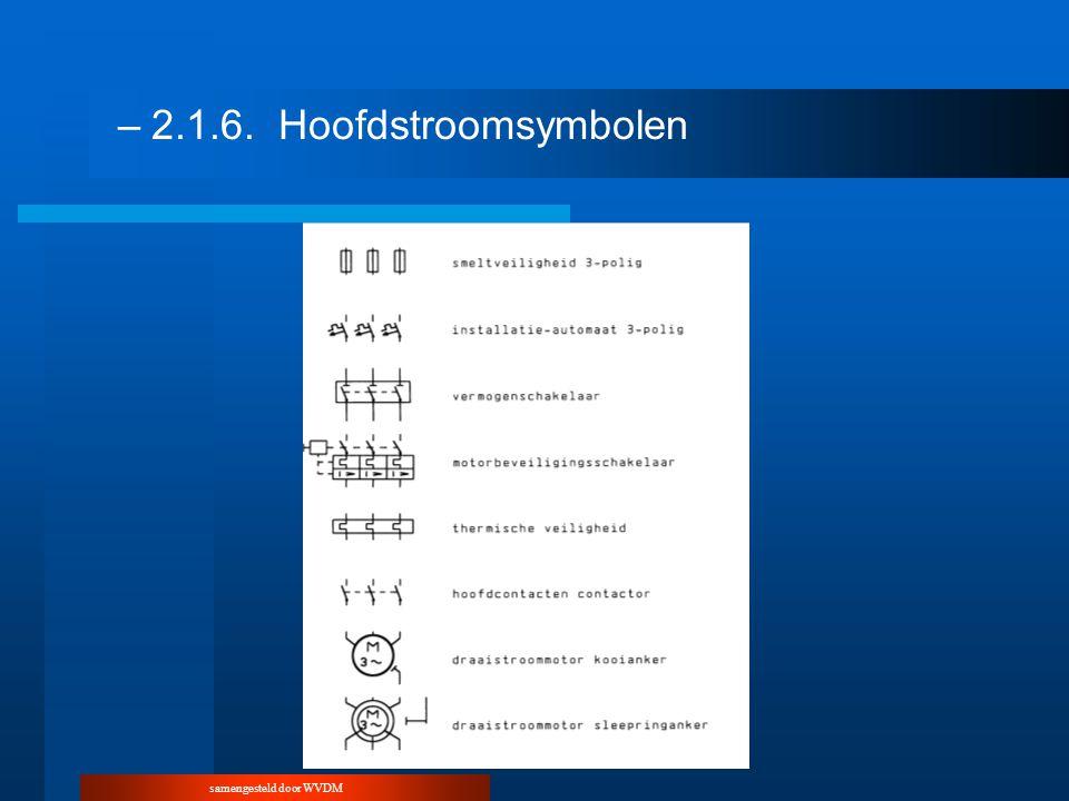 samengesteld door WVDM –2.1.6.Hoofdstroomsymbolen