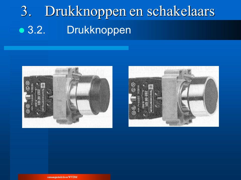 samengesteld door WVDM 3.Drukknoppen en schakelaars 3.2.Drukknoppen