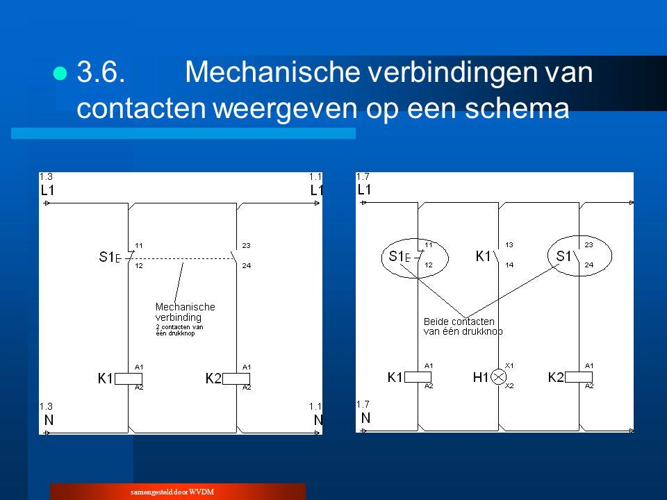 samengesteld door WVDM 3.6.Mechanische verbindingen van contacten weergeven op een schema