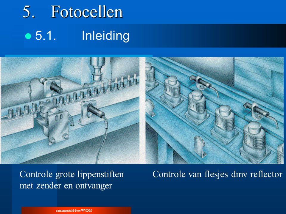 samengesteld door WVDM 5.Fotocellen 5.1.Inleiding Controle grote lippenstiften met zender en ontvanger Controle van flesjes dmv reflector