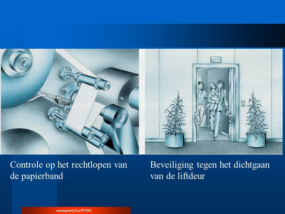 samengesteld door WVDM Controle op het rechtlopen van de papierband Beveiliging tegen het dichtgaan van de liftdeur