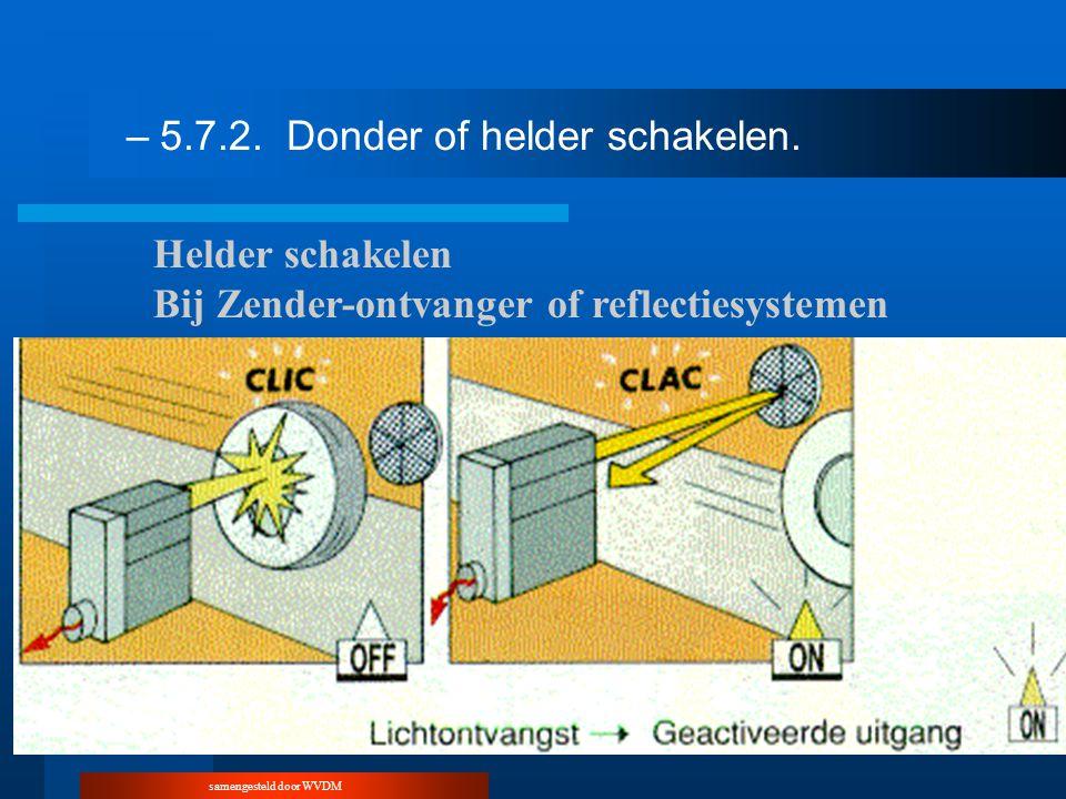 samengesteld door WVDM –5.7.2.Donder of helder schakelen. Helder schakelen Bij Zender-ontvanger of reflectiesystemen
