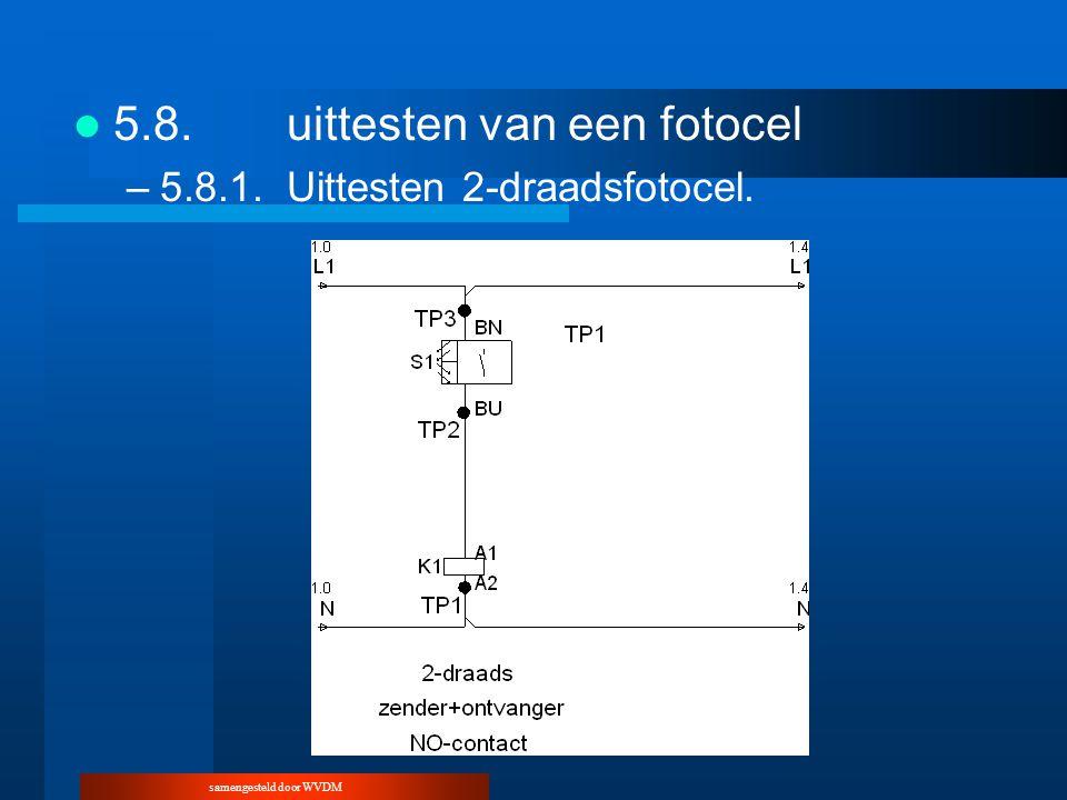 samengesteld door WVDM 5.8.uittesten van een fotocel –5.8.1.Uittesten 2-draadsfotocel.