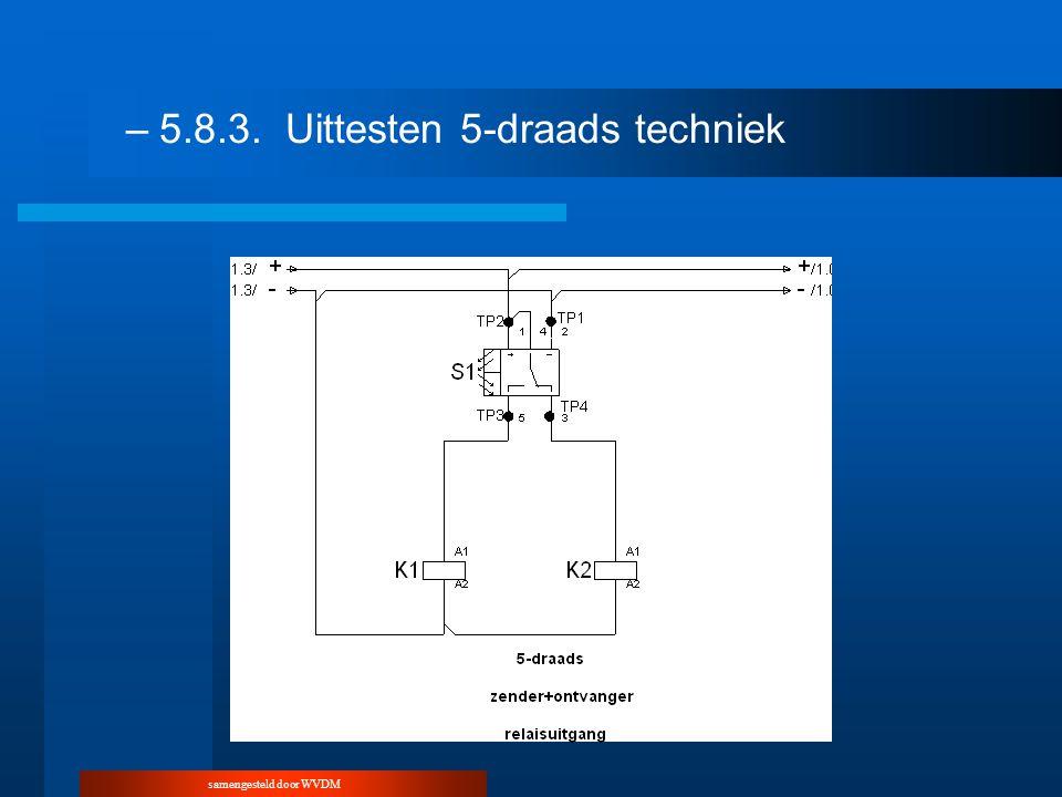 samengesteld door WVDM –5.8.3.Uittesten 5-draads techniek
