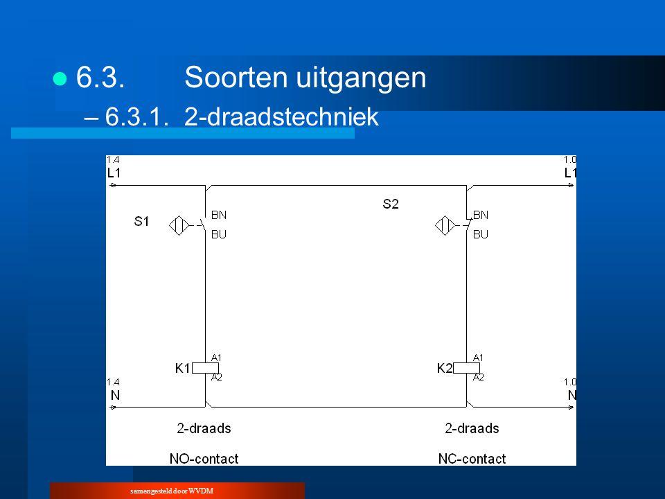 samengesteld door WVDM 6.3.Soorten uitgangen –6.3.1.2-draadstechniek