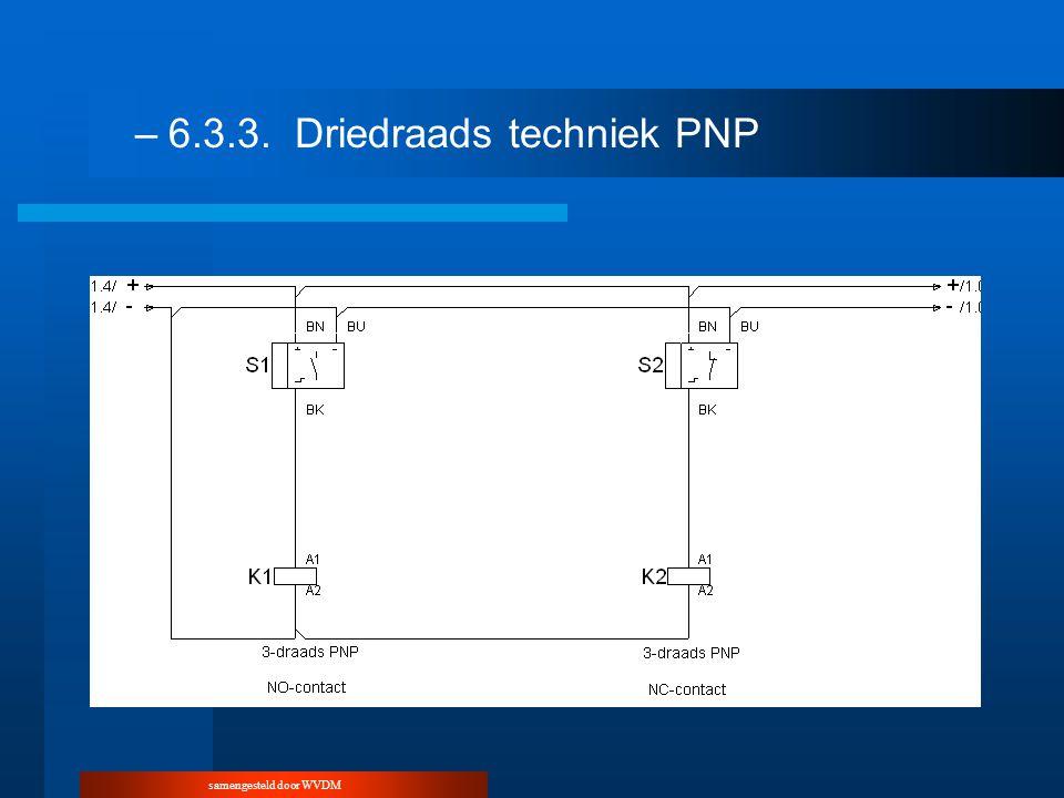 samengesteld door WVDM –6.3.3.Driedraads techniek PNP