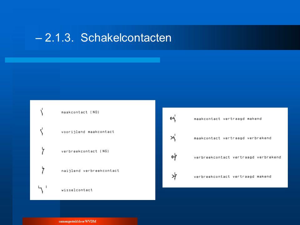 samengesteld door WVDM –2.1.3.Schakelcontacten