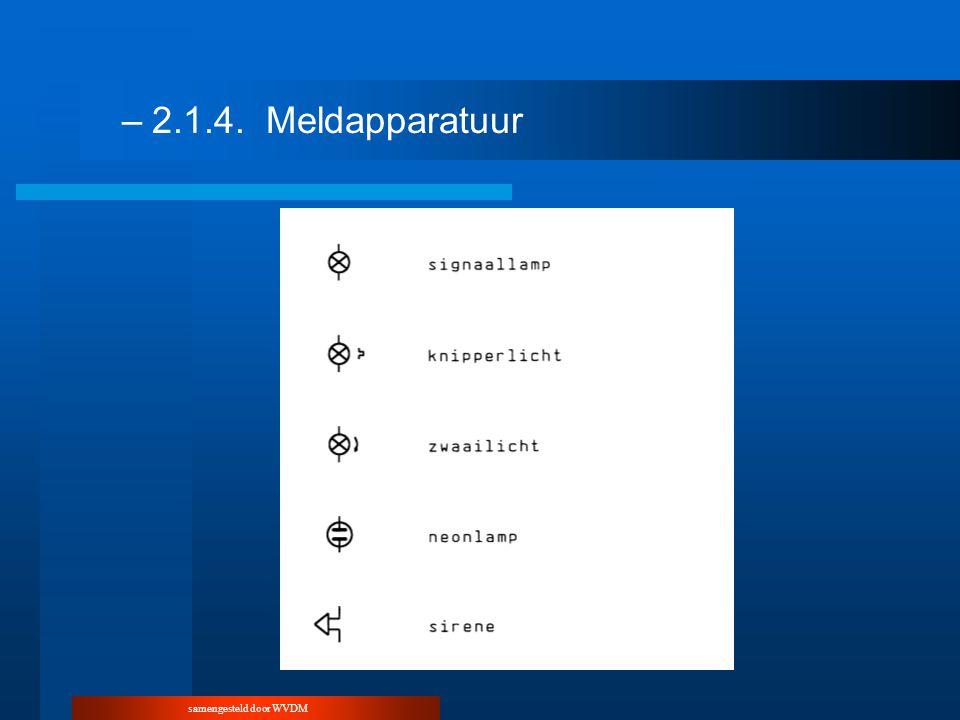 samengesteld door WVDM –2.1.5.Diverse schakelsymbolen