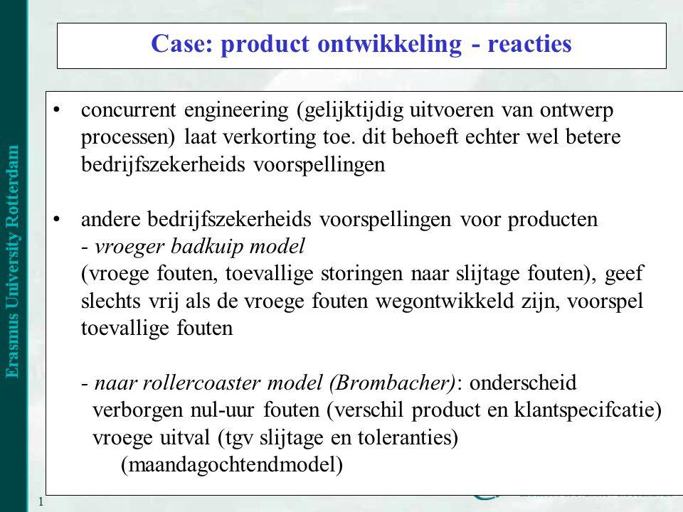 14 Case: product ontwikkeling - reacties concurrent engineering (gelijktijdig uitvoeren van ontwerp processen) laat verkorting toe.