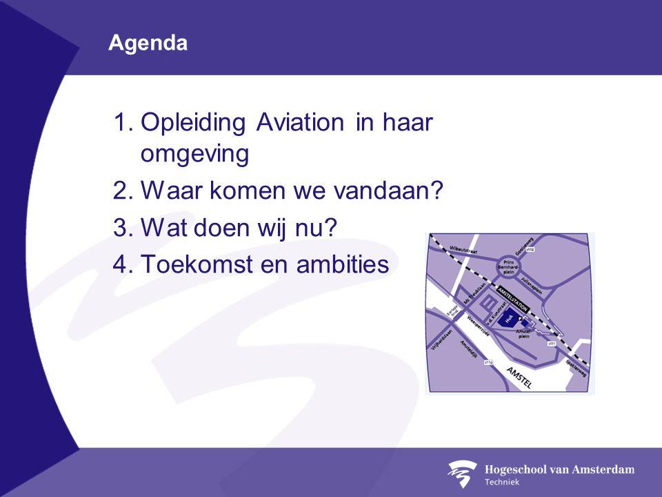 Agenda 1.Opleiding Aviation in haar omgeving 2.Waar komen we vandaan? 3.Wat doen wij nu? 4.Toekomst en ambities
