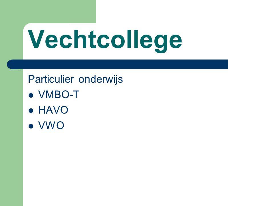 Vechtcollege Particulier onderwijs VMBO-T HAVO VWO