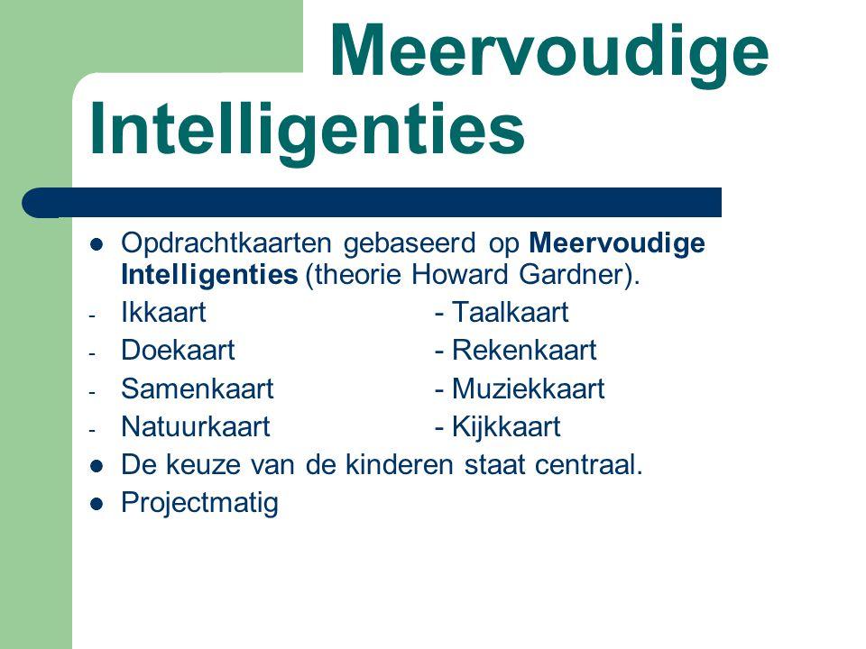Meervoudige Intelligenties Opdrachtkaarten gebaseerd op Meervoudige Intelligenties (theorie Howard Gardner).