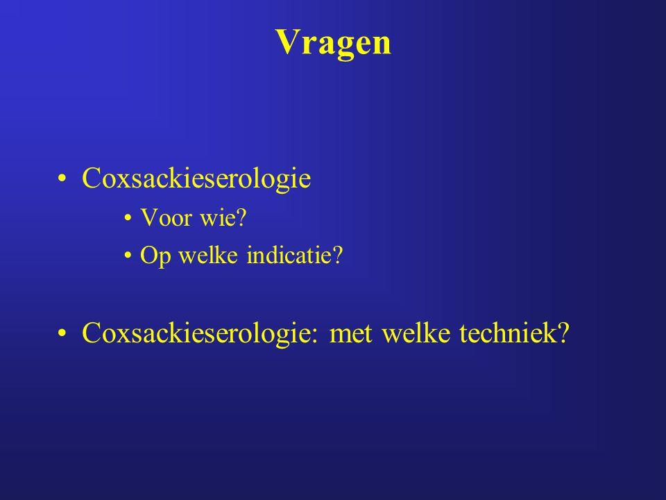 Coxsackieserologie Voor wie? Op welke indicatie? Coxsackieserologie: met welke techniek?