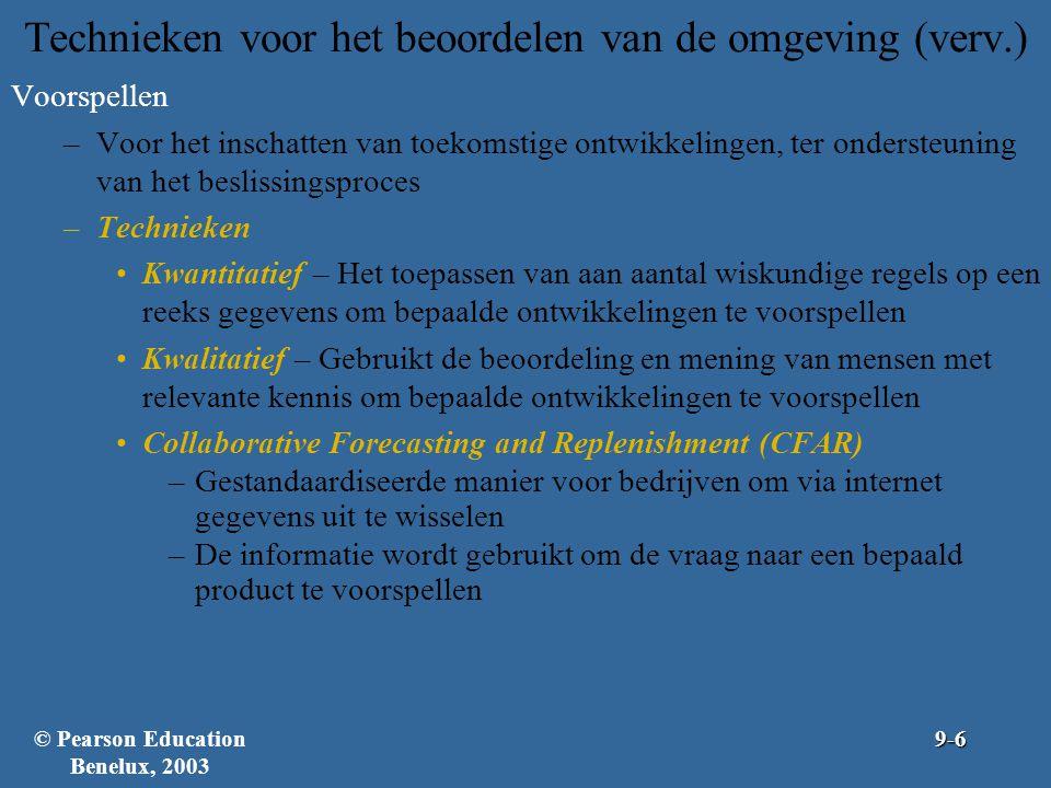Figuur 9.1: Voorspellingstechnieken © Pearson Education Benelux, 20039-7