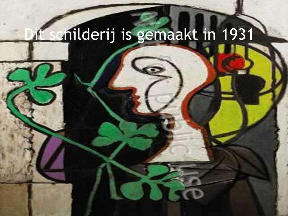 Dit schilderij is gemaakt in 1922