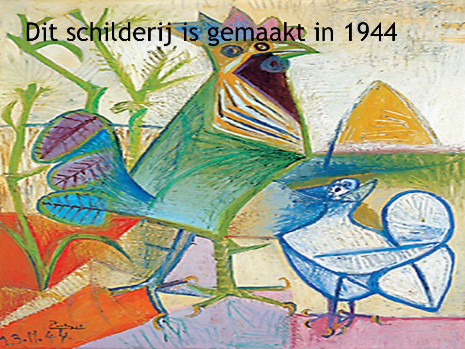 Dit schilderij is gemaakt in 1939
