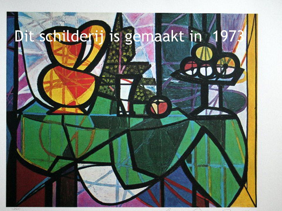 Kubisme 1906-1920 Dit schilderij is gemaakt in 1944