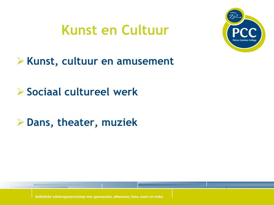 Kunst en Cultuur  Kunst, cultuur en amusement  Sociaal cultureel werk  Dans, theater, muziek