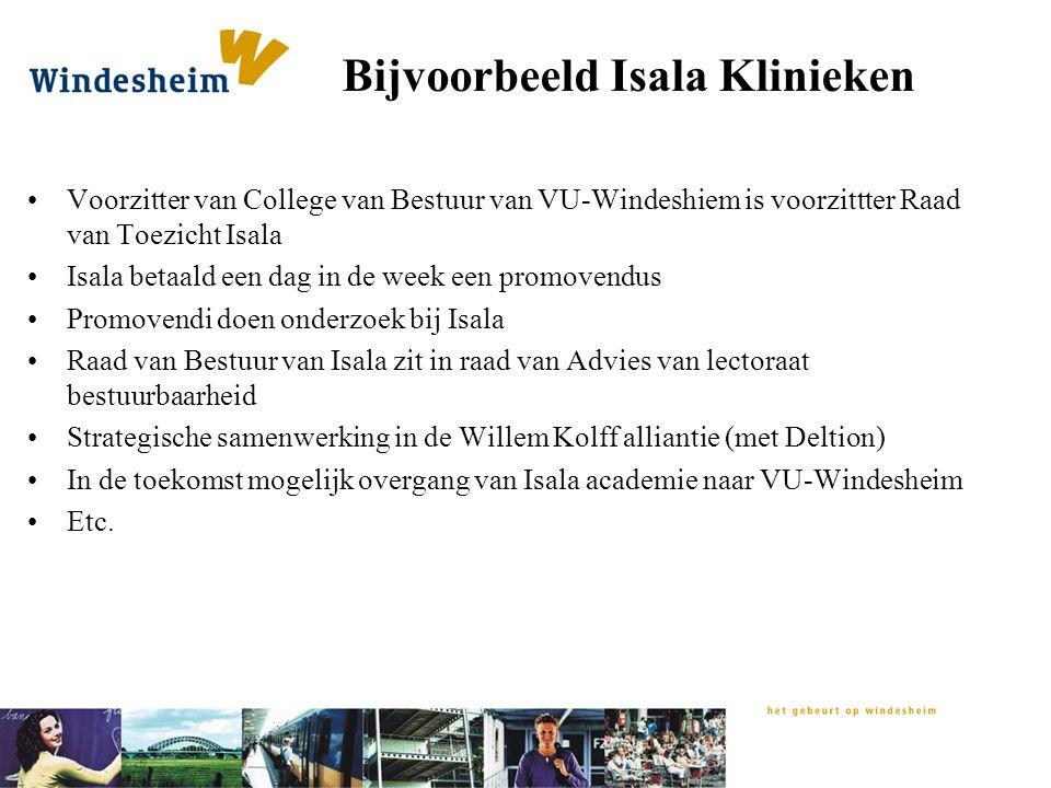 Bijvoorbeeld Isala Klinieken Voorzitter van College van Bestuur van VU-Windeshiem is voorzittter Raad van Toezicht Isala Isala betaald een dag in de w