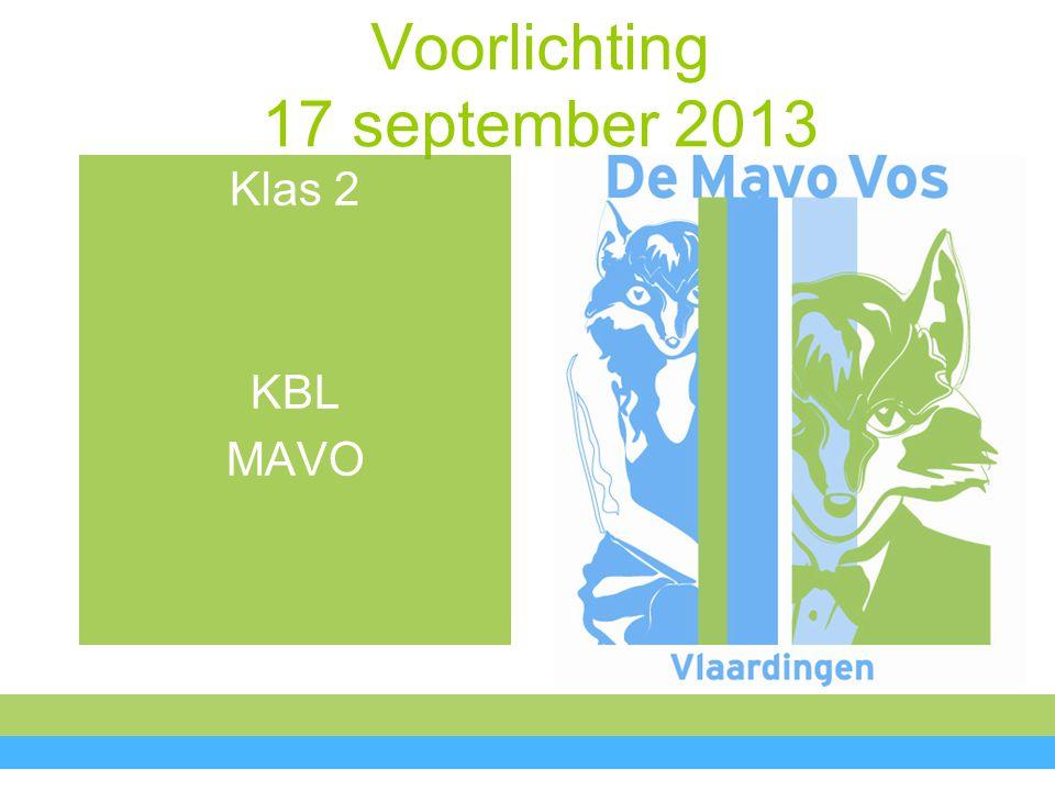 Voorlichting Kirsten de Jong Afdelingsleider onderbouw De Mavo Vos