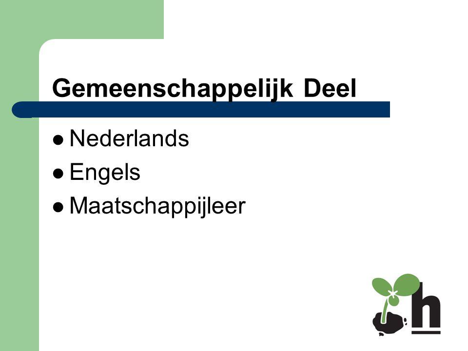 Gemeenschappelijk Deel Nederlands Engels Maatschappijleer