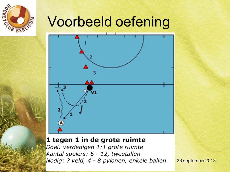 Voorbeeld oefening 23 september 2013