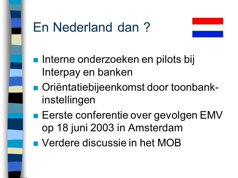 En Nederland dan ? Financieel Dagblad, 24 juni 2003