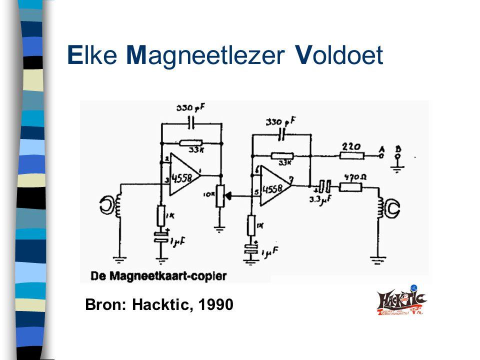 Elke Magneetlezer Voldoet Bron: Hacktic, 1990