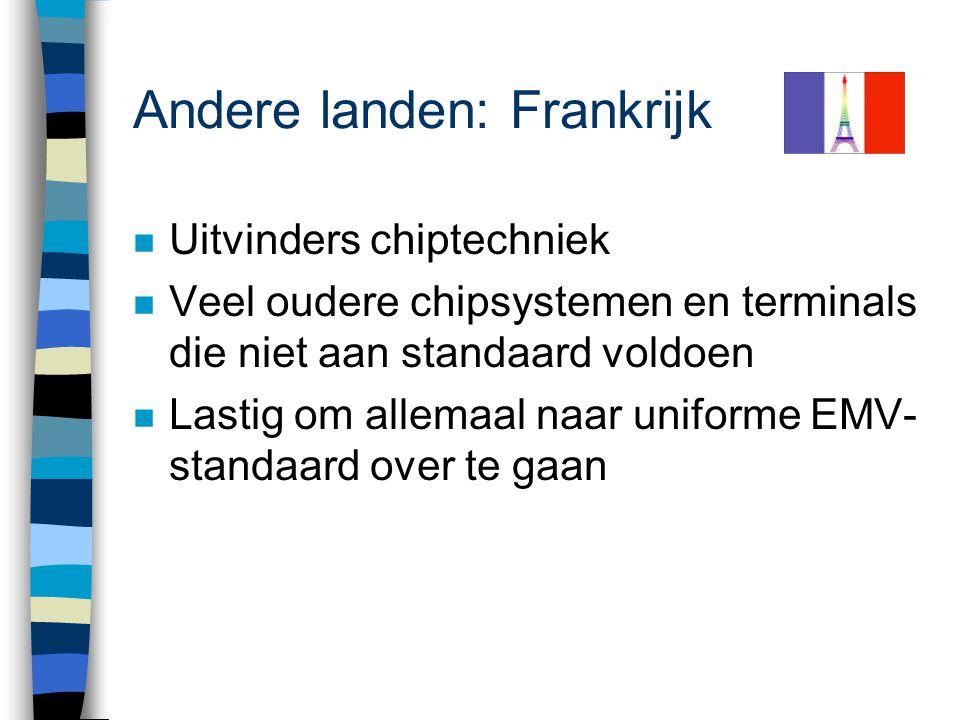 Erg Markante Verschillen - Online autorisatie + Handtekening of PIN Elk land zijn eigen varianten en smaken ! Creditcards - Offline autorisatie + Hand