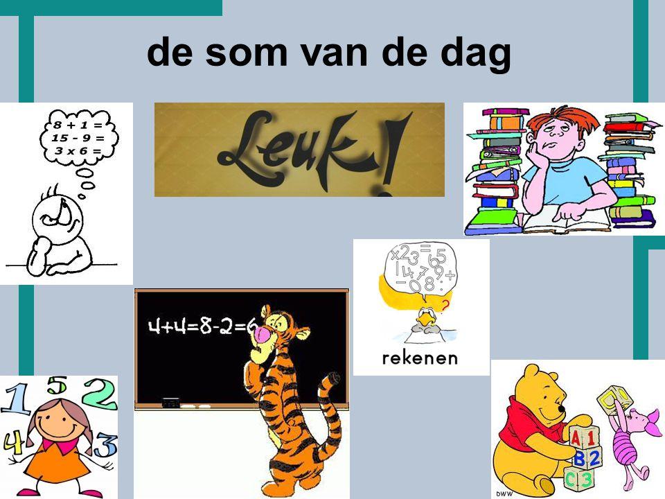 HoT start rekenen op het Hoornbeeck rekenen sector techniek B, E, W de planning huiswerkschema's basisvaardigheden (hoofd)rekenen www.hommersomtm.nl/rekenen123F de som van de dag andere ideeën …… de som van de dag