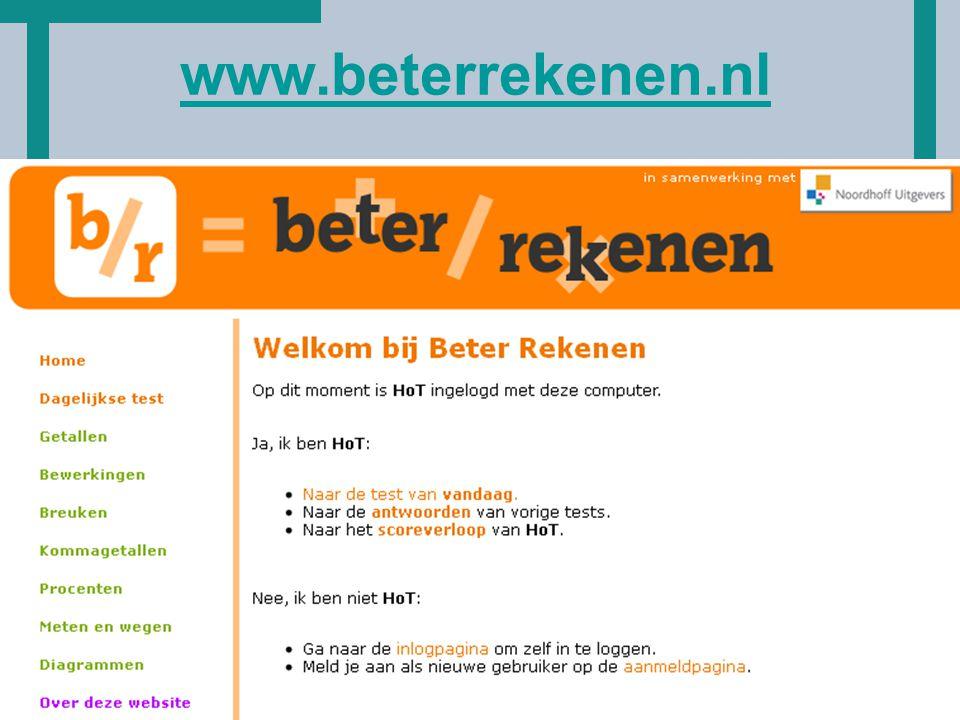 HoT www.beterrekenen.nl