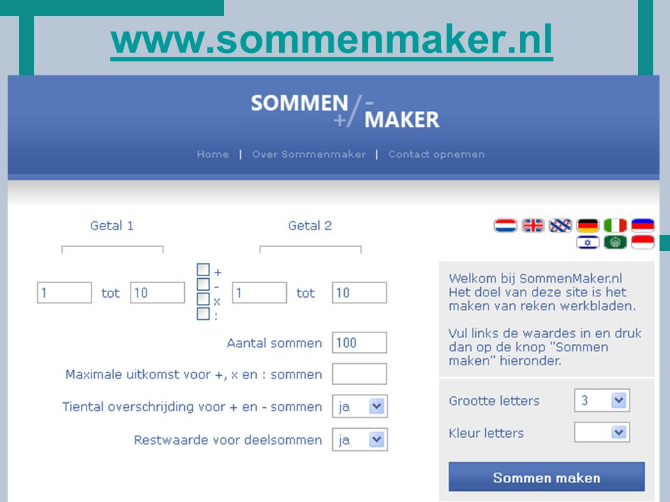 HoT www.sommenmaker.nl