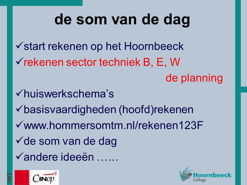 HoT www.hommersomtm.nl/rekenen123F