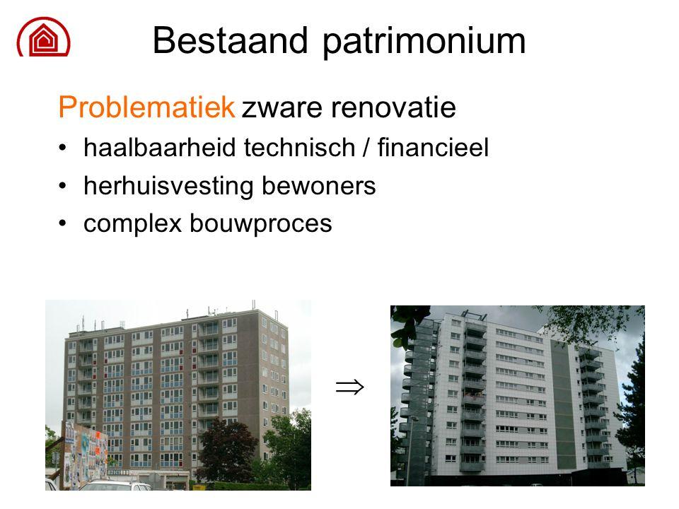 25 Problematiek zware renovatie haalbaarheid technisch / financieel herhuisvesting bewoners complex bouwproces Bestaand patrimonium 