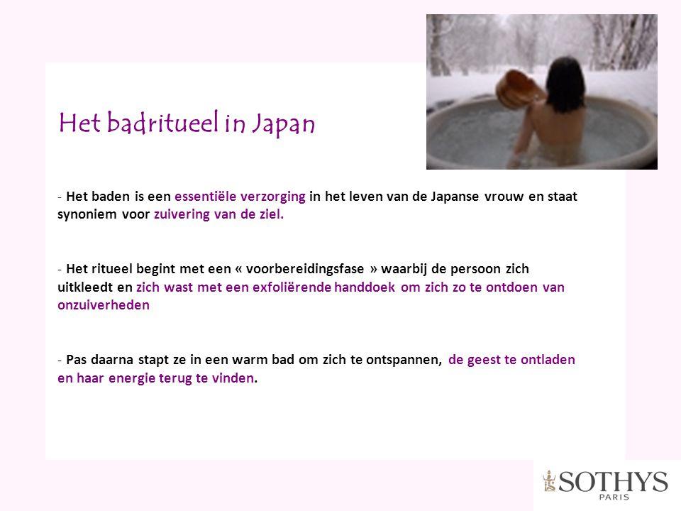 Het badritueel in Japan - Het baden is een essentiële verzorging in het leven van de Japanse vrouw en staat synoniem voor zuivering van de ziel. - Het