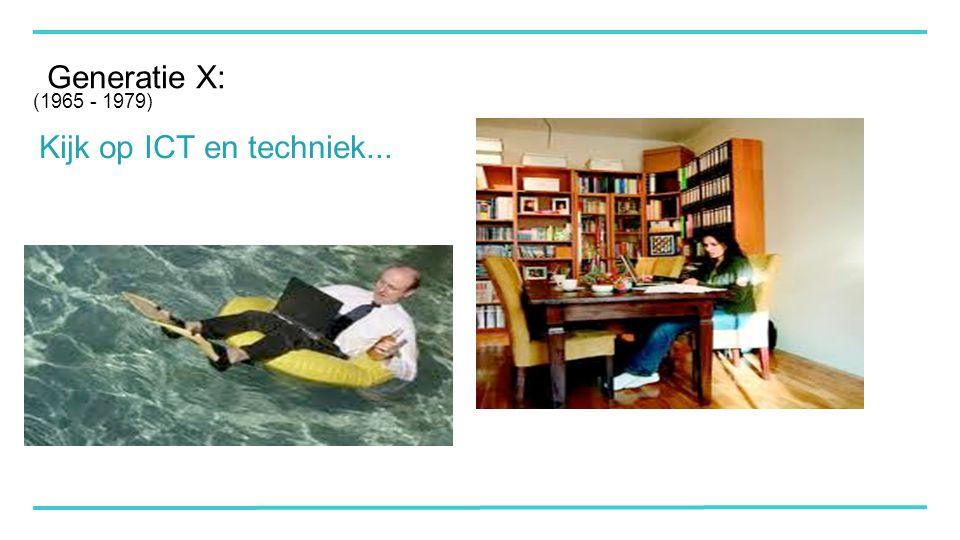 Generatie X: Kijk op ICT en techniek... (1965 - 1979)