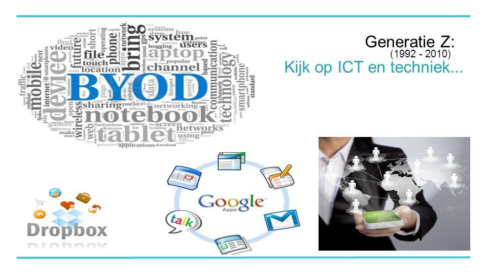 Generatie Z: Kijk op ICT en techniek... (1992 - 2010)
