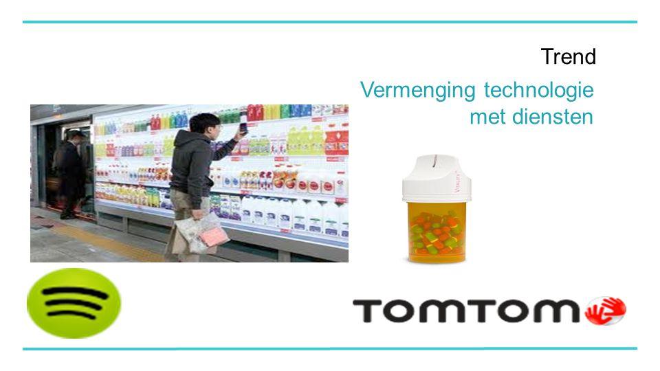 Trend Vermenging technologie met diensten