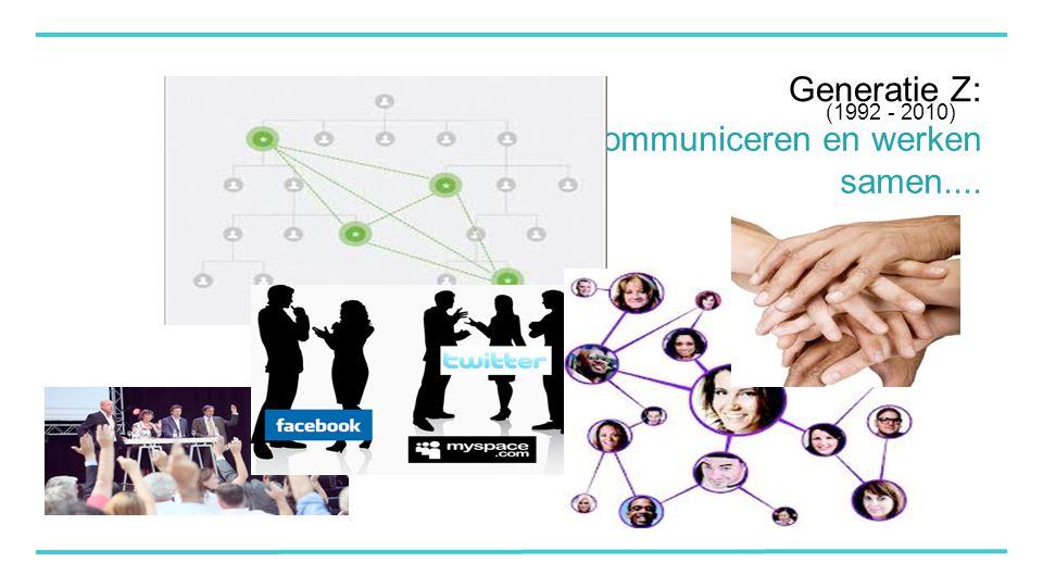 Generatie Z: Communiceren en werken samen.... (1992 - 2010)