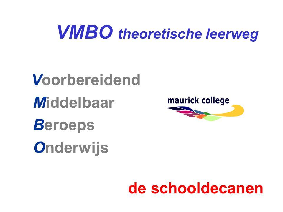 VMBO theoretische leerweg Voorbereidend Middelbaar Beroeps Onderwijs de schooldecanen