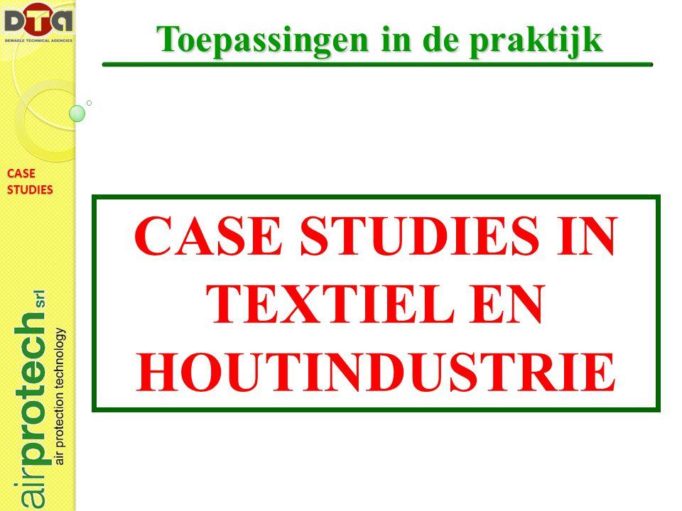 CASE STUDIES Toepassingen in de praktijk CASE STUDIES IN TEXTIEL EN HOUTINDUSTRIE